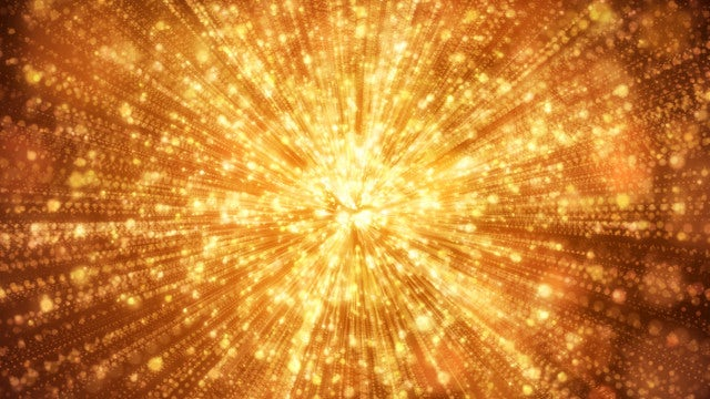 Luxury Golden Particles Bloom: Stock Motion Graphics