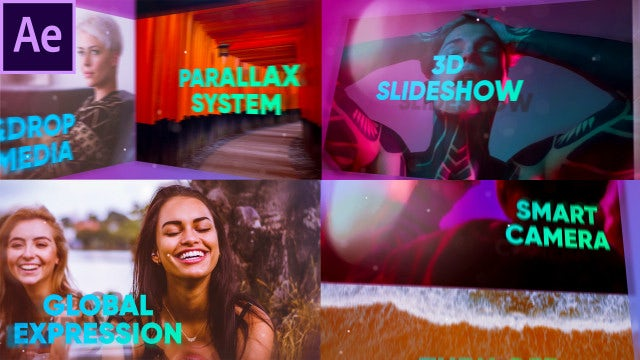 3D Colorful Slideshow Opener: After Effects Templates