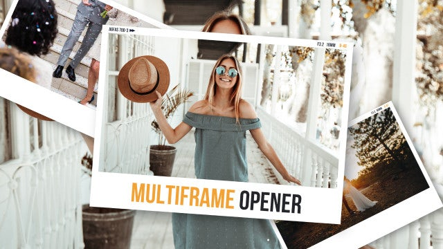 Multiframe Media Opener Slideshow: Premiere Pro Templates