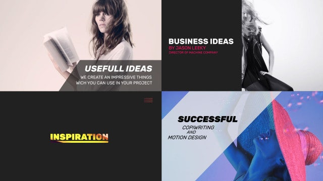 Typography Scenes: After Effects Templates