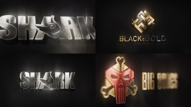 3D Metal Logo: After Effects Templates
