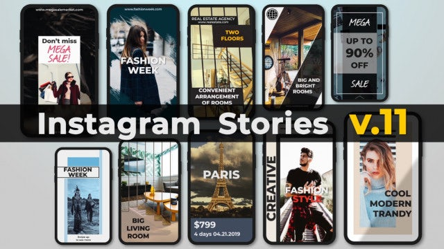 Instagram Stories V.11: After Effects Templates