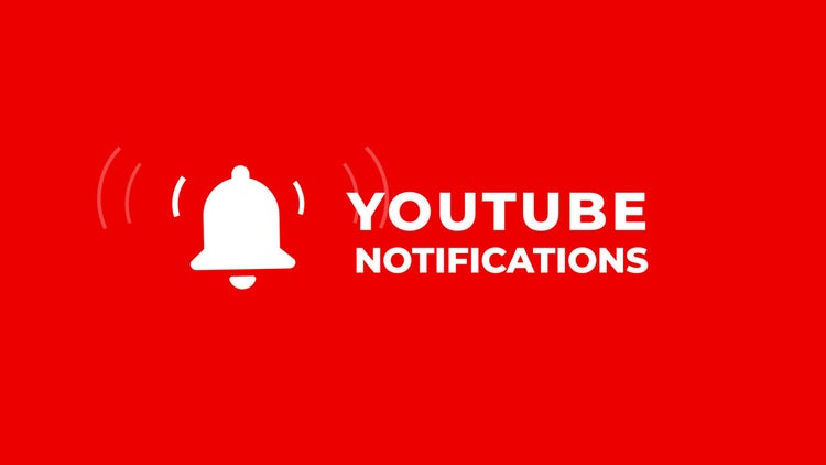 Youtube Notifications: After Effects Templates
