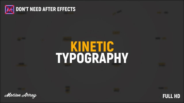 Kinetic Typography Title: Premiere Pro Templates