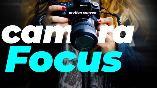 Camera Focus Presets: After Effects Presets