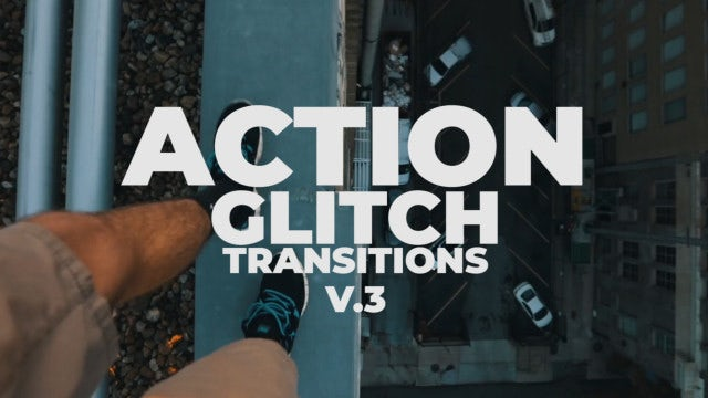 Action Glitch Transitions V.3: Premiere Pro Presets