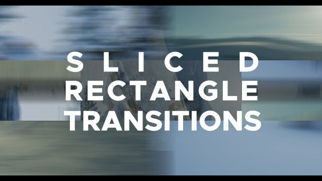 Sliced Rectangle Transitions: Premiere Pro Templates