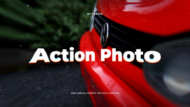 Action Photo Presets: Premiere Pro Presets