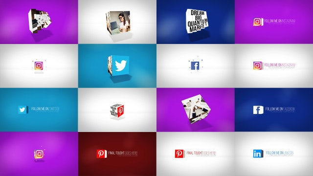 Clean Dynamic Cube Logo Reveals: After Effects Templates