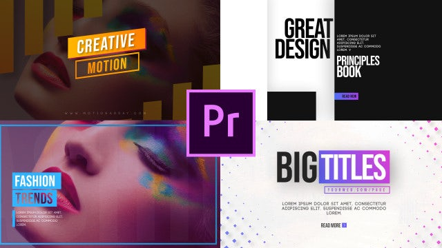 Clean Motion Titles V2: Motion Graphics Templates