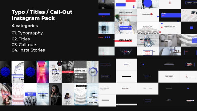 Typo / Titles / Call-Out / Instagram Pack: Premiere Pro Templates