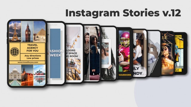 Instagram Stories V.12: After Effects Templates