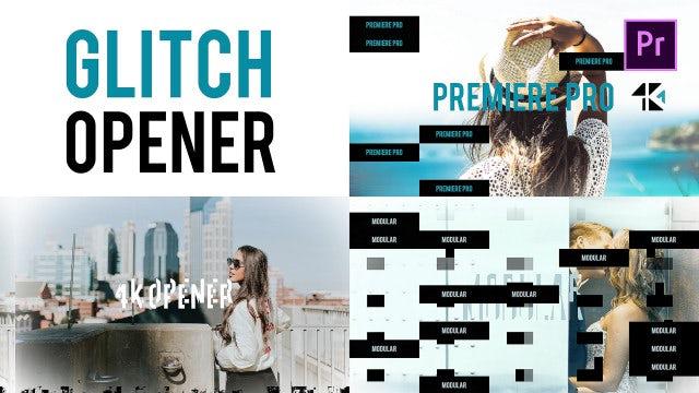 Glitch Opener 4K: Premiere Pro Templates