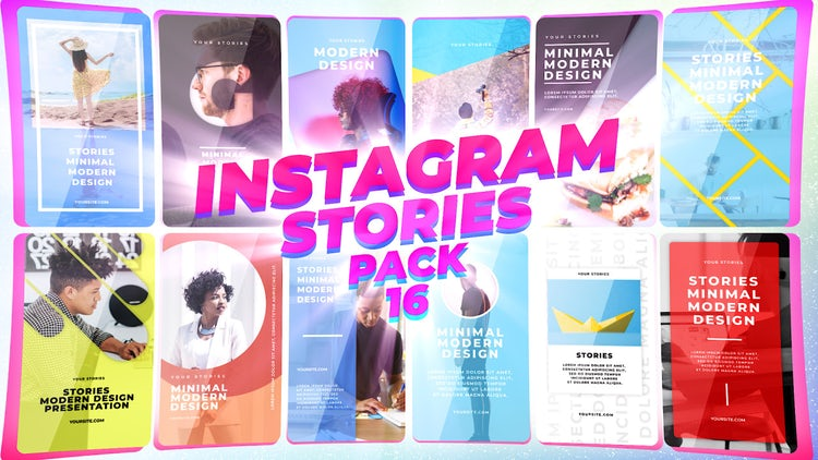 Instagram Stories Pack 16: Motion Graphics Templates