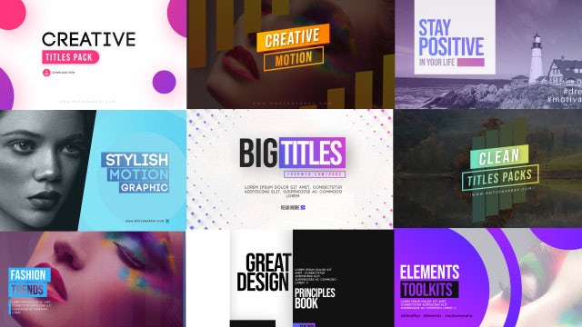 Stylish Title Scenes: After Effects Templates