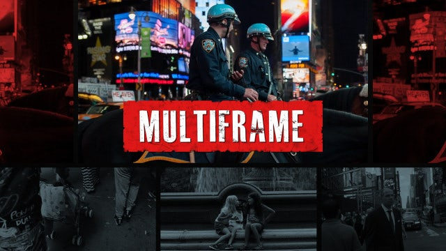 Multiframe Urban Opener: Premiere Pro Templates