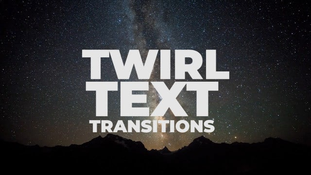 Twirl Text Transitions: Premiere Pro Presets