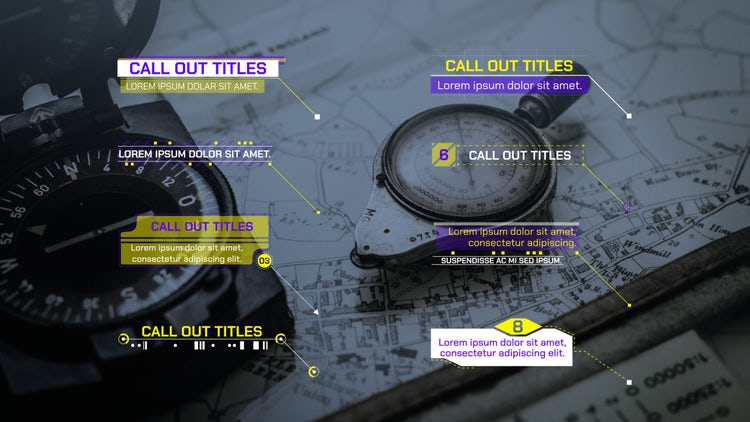 Glitch Call Out Titles 4k: Motion Graphics Templates