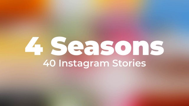 Seasons Instagram Stories: After Effects Templates