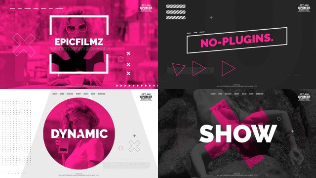 Clean Fast Opener: After Effects Templates
