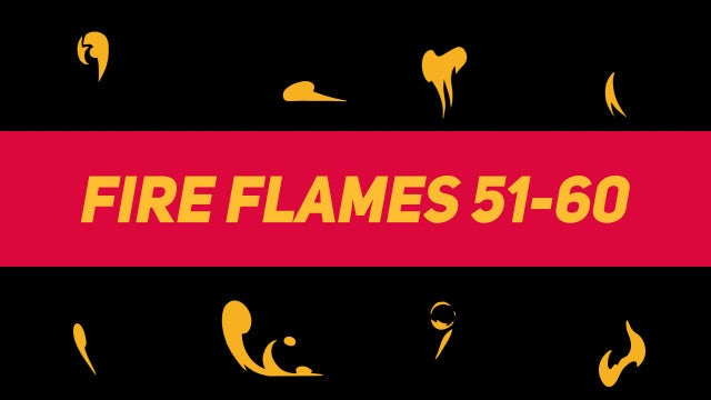 Liquid Elements Fire Flames 51-60: Motion Graphics Templates