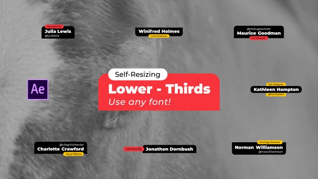 Lower Thirds Modern Auto-Scale Vol 4 - After Effects Templates