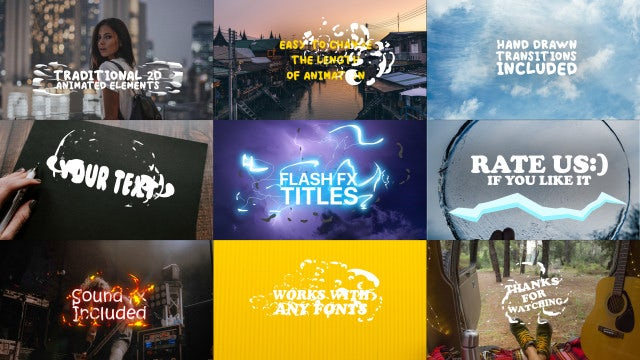 Flash FX Titles: Motion Graphics Templates