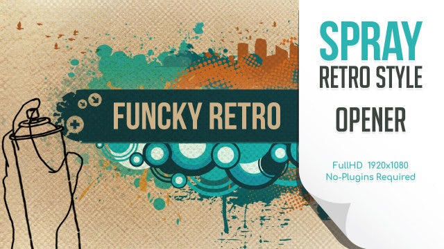 Funky Retro Spray Opener: After Effects Templates