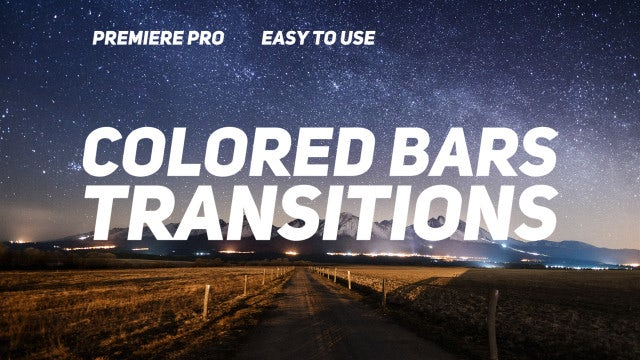 Colored Bars Transitions: Premiere Pro Templates