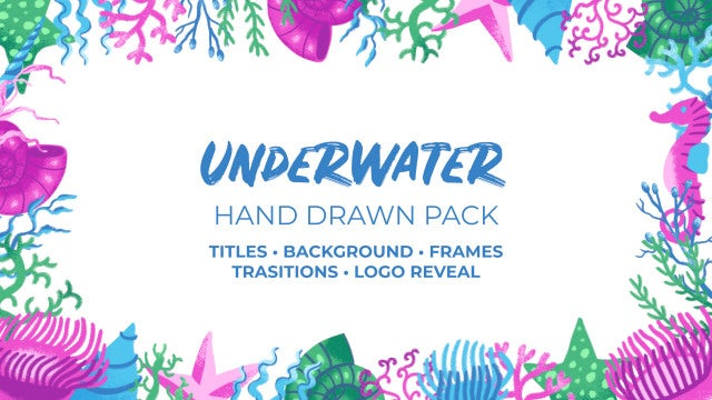 Underwater Hand Drawn Pack: Premiere Pro Templates