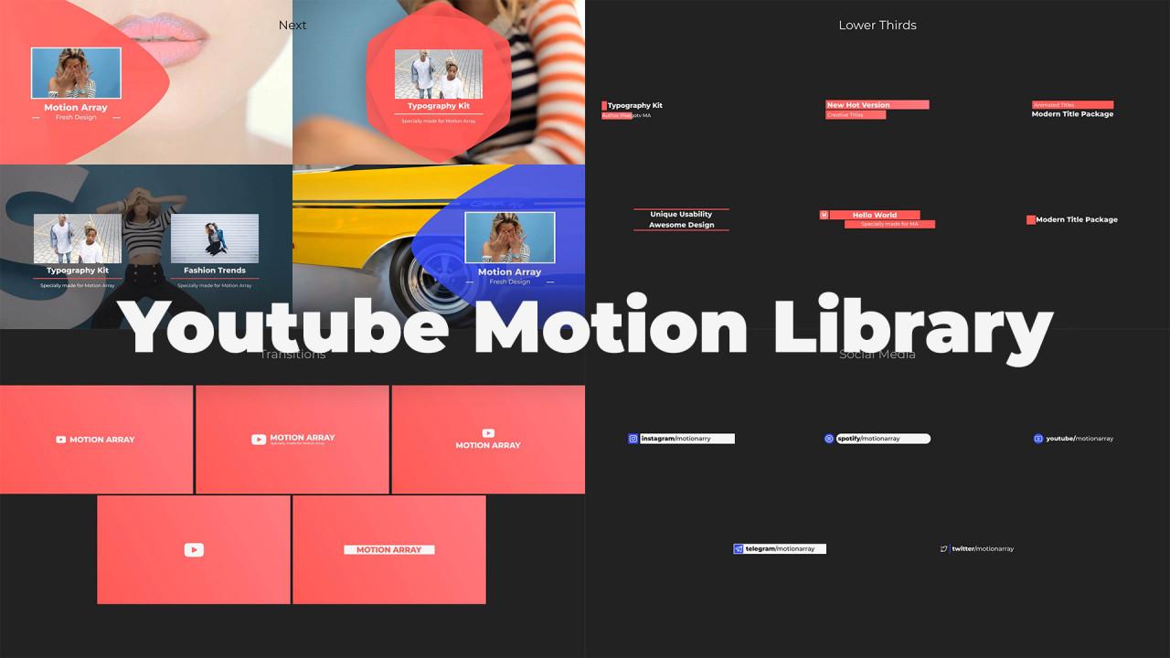 Mini Youtube Motion Library - Premiere Pro Templates