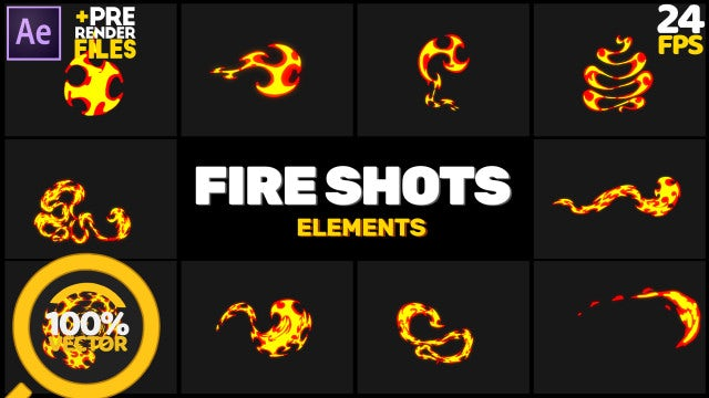 Fire Shots Hand Drawn: After Effects Templates