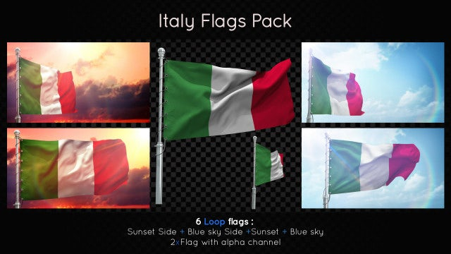 4e4eeb68bd65 Italy Flags Pack - Stock Motion Graphics