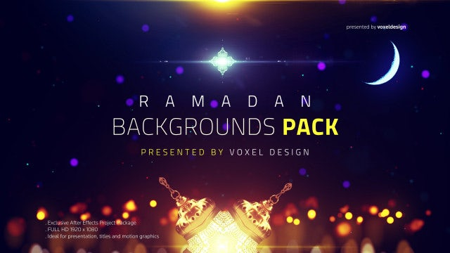 Ramadan Islamic Backgrounds Pack: Stock Motion Graphics