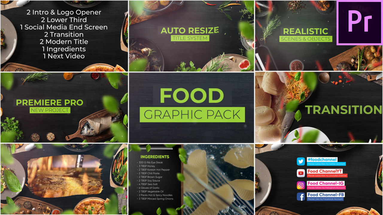 Lower Thirds Download Cooking