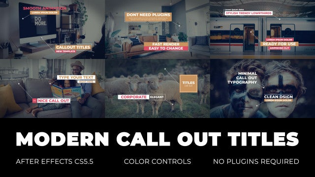 Modern Call Out Titles: Premiere Pro Templates
