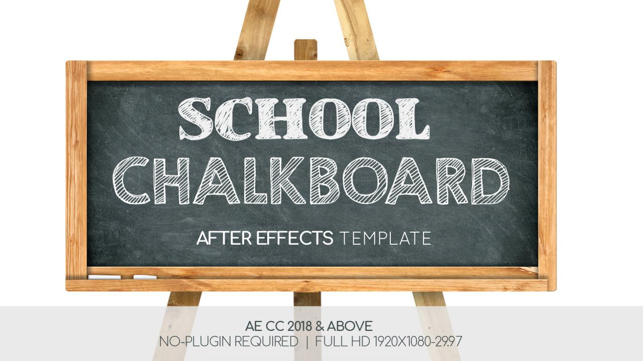 School Chalkboard - After Effects Templates | Motion Array