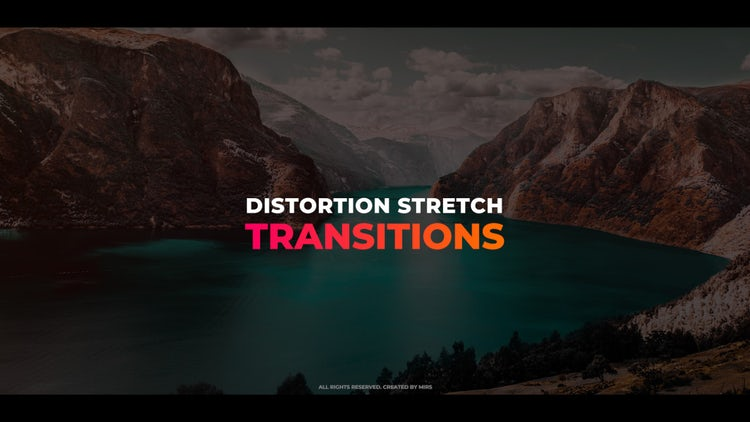Distortion Stretch Transitions: Premiere Pro Templates
