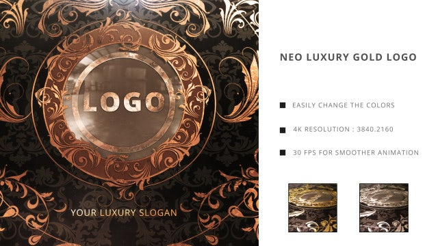 Neo Luxury Golden Logo: After Effects Templates