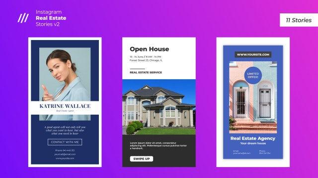 Instagram Real Estate Stories V2: After Effects Templates