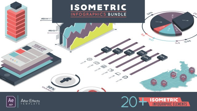 Isometric Infographic Bundle: After Effects Templates