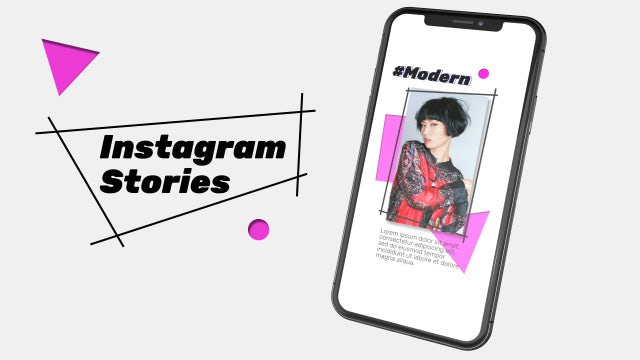 Instagram Stories Geometry: After Effects Templates
