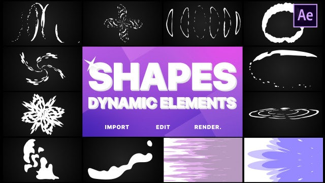 Dynamic Shapes Pack: After Effects Templates