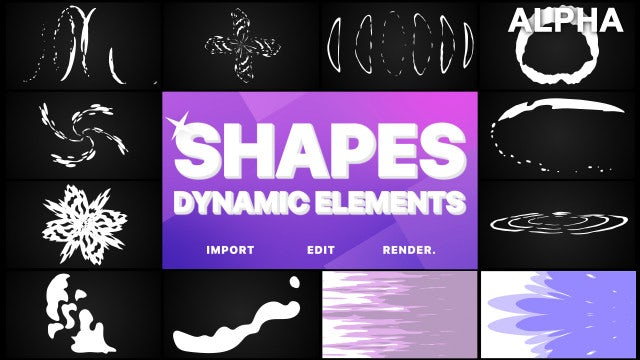 Dynamic Shapes Pack: Stock Motion Graphics