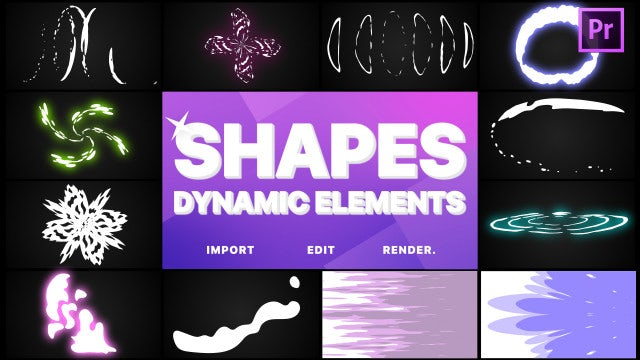 Dynamic Shapes Pack: Motion Graphics Templates