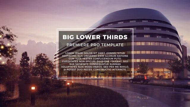 BIG Lower Thirds: Premiere Pro Templates