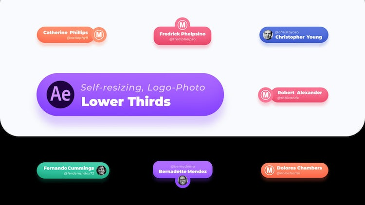 Lower Thirds Logo Photo Auto-Scale Vol 5 - After Effects