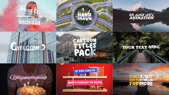 Cartoon Titles Pack: Motion Graphics Templates