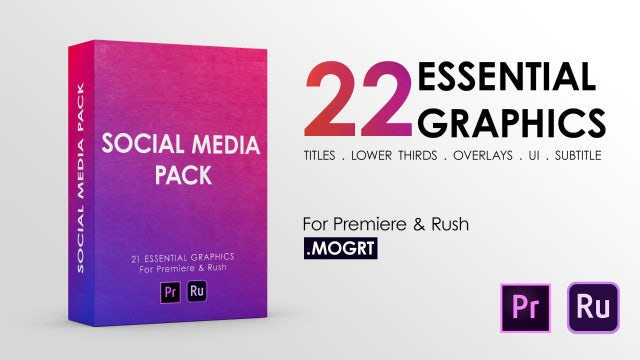 Social Media Pack: Premiere Rush Templates