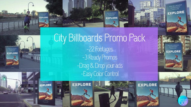 City Billboards Mockup Promo Pack: After Effects Templates